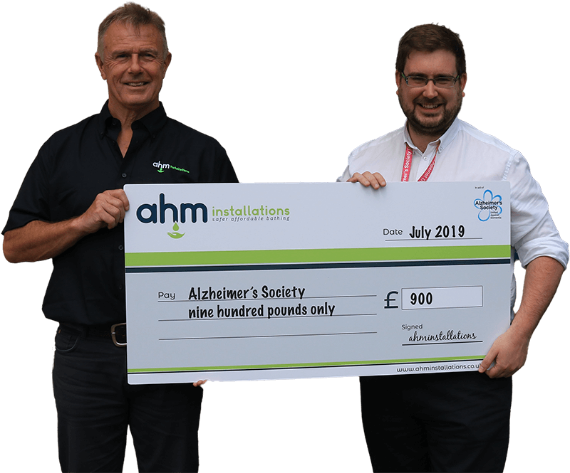 AHM charity cheque