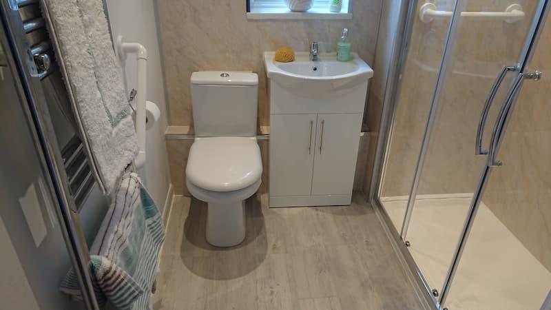 Beasley bathroom fitting after