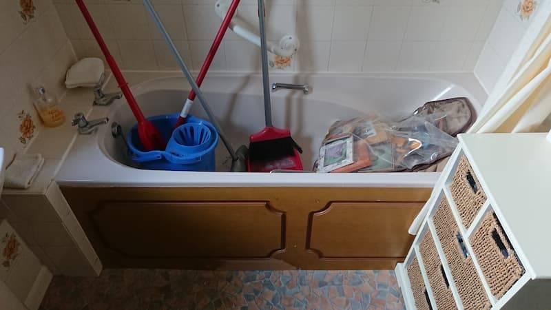 Beasley bathroom before AHM