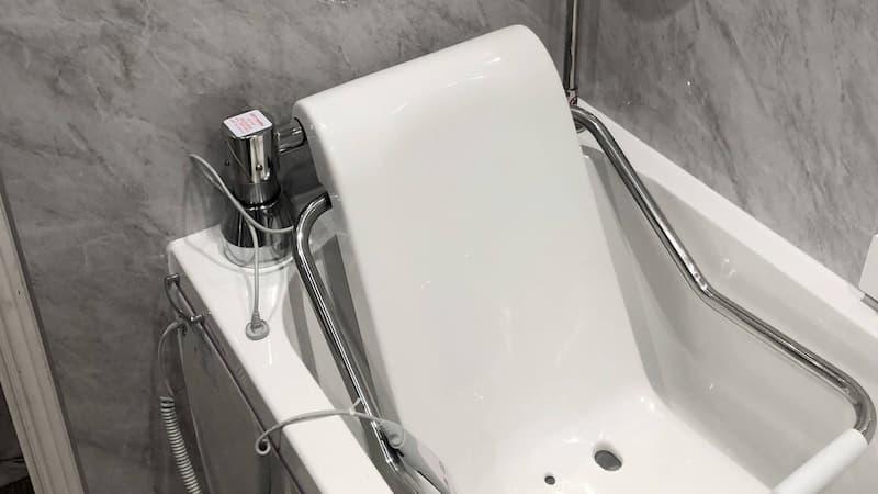 Close up of bath after renovation