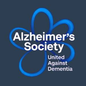 Alzheimers Society Logo in blue & black